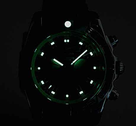 Breitling Chronomat GMT night view