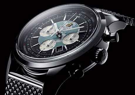 Breitling Transocean Chrono Unitime on bracelet