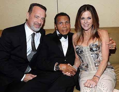 Tom Hanks, Muhammad Ali and Rita Wilson