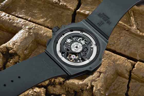 Hublot King Power Unico All Black back view