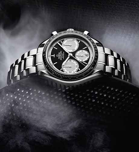 Omega Speedmaster Racing on bracelet w/smoke