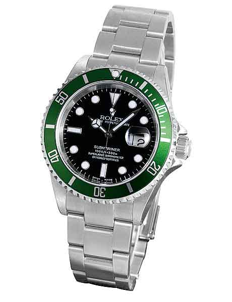 Rolex Submariner with green bezel