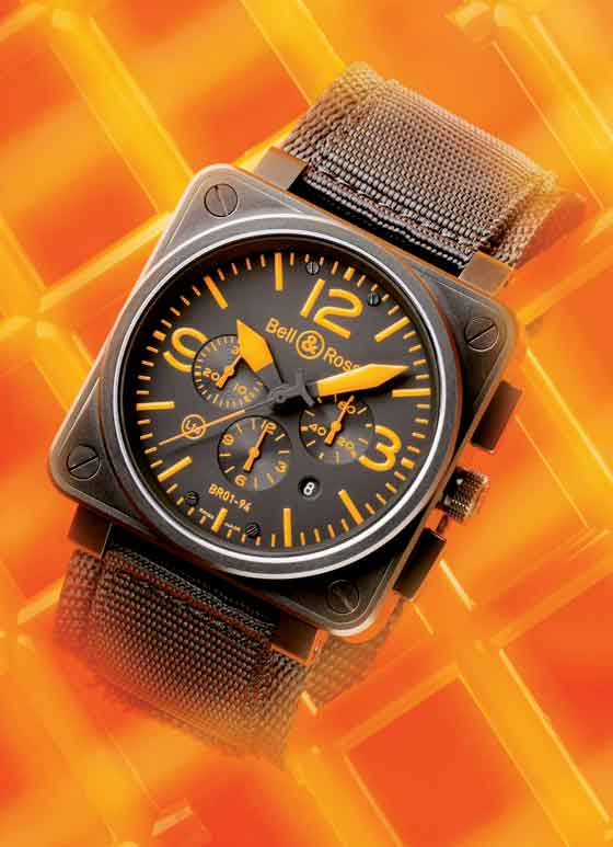Bell & Ross BR 01 Instrument Orange