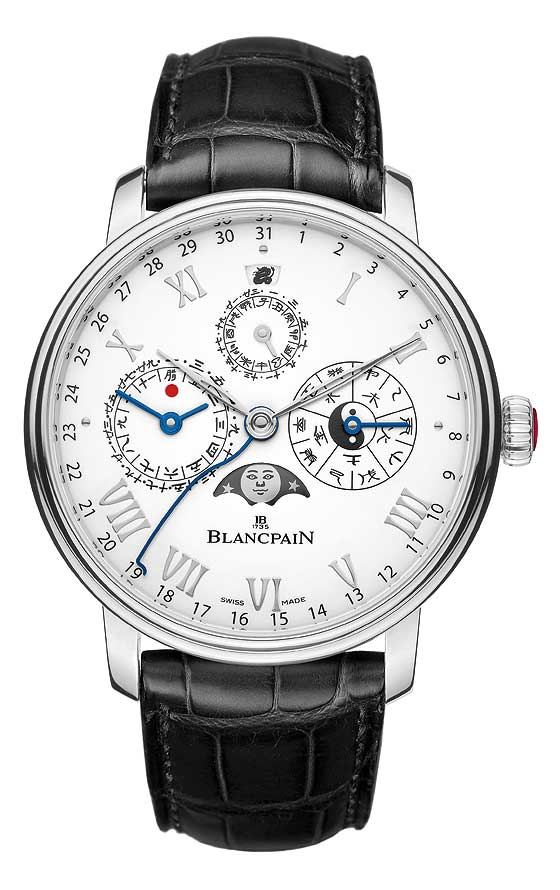 Blancpain Chinese Calendar in platinum, front