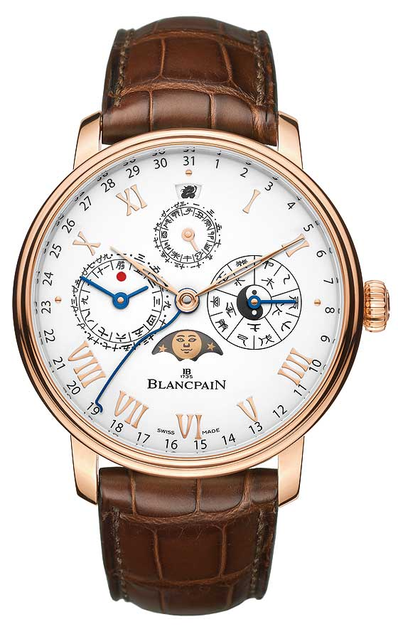 Blancpain Chinese Calendar in rose gold