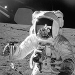 Alan Bean wears Omega Speedmaster on moon