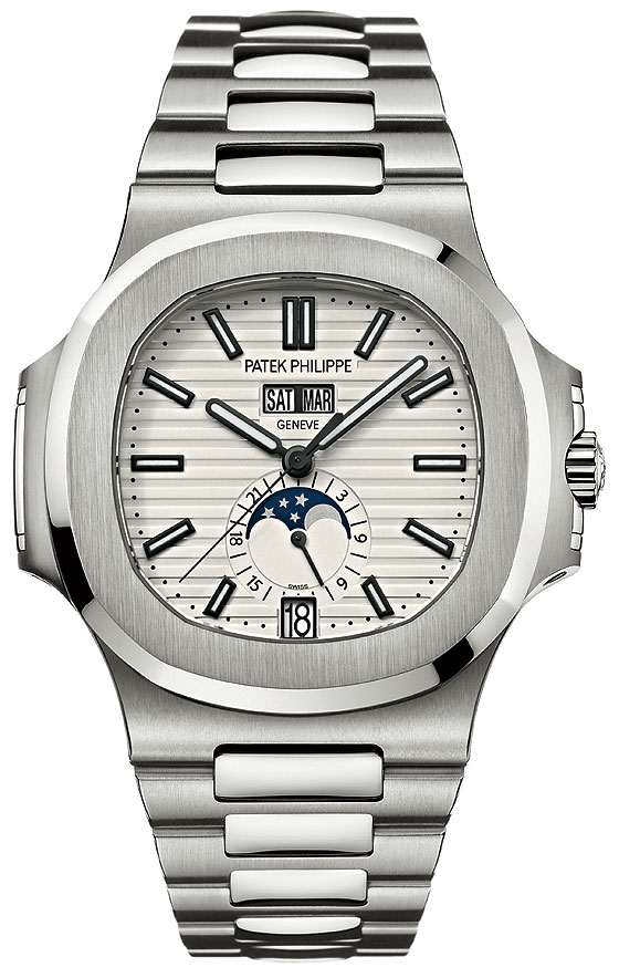 Patek Philippe Ref. 5726 Nautilus Annual Calendar-white dial