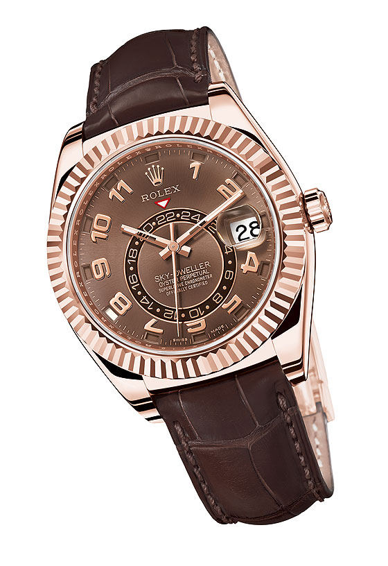 Replica Rolex Sky-Dweller in rose gold