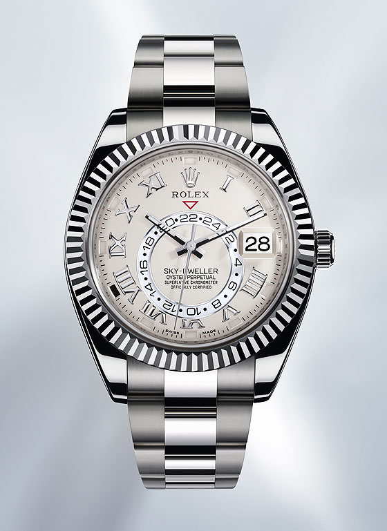 Replica Rolex Sky-Dweller White Gold - front