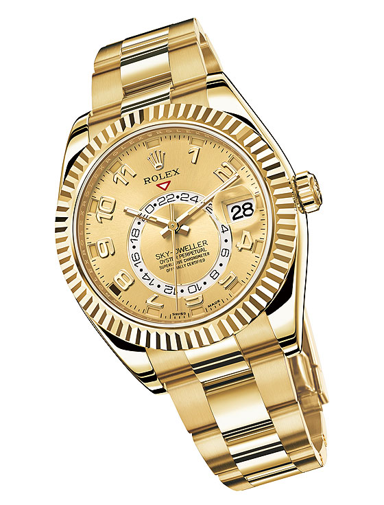 Replica Rolex Sky Dweller in Yellow Gold