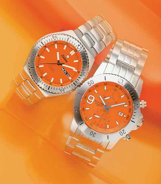 "Tutima DI 300 and Glycine Lagunare ""Big Nine"" Chronograph"
