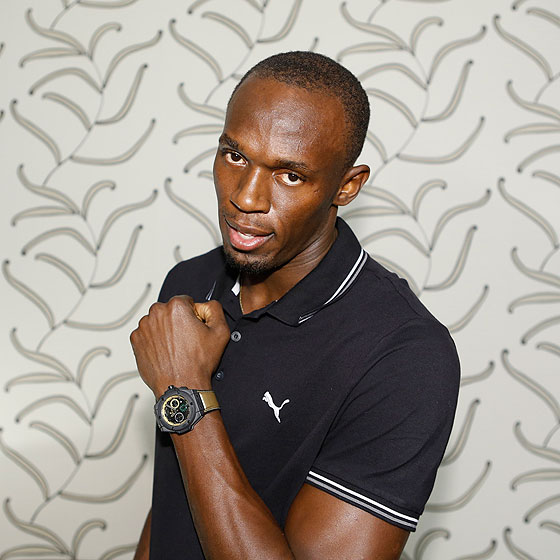 Usain Bolt wearing Hublot