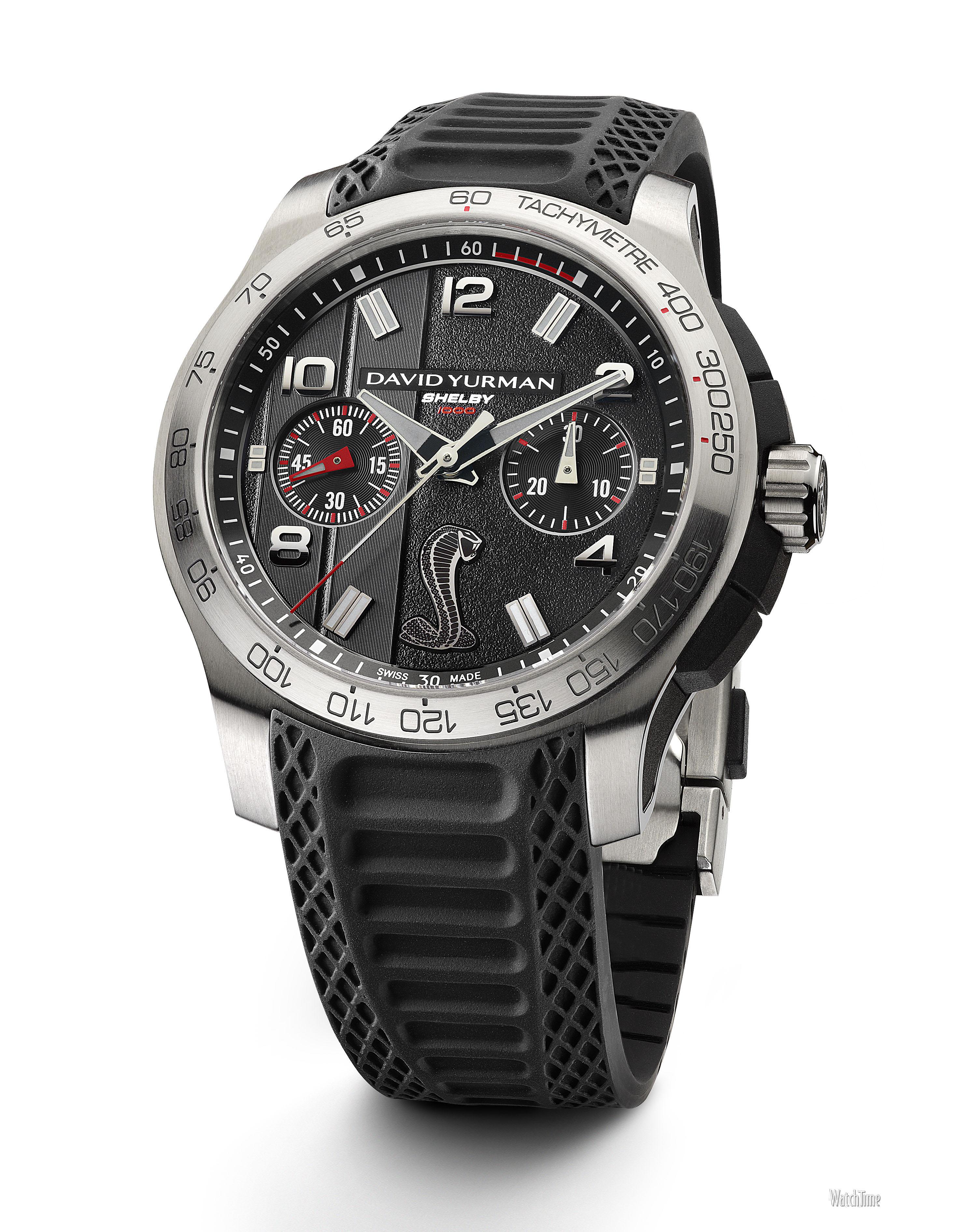 "cable meets cobra david yurman s new shelby 1000 sports watch david yurman revolution shelby 1000 black david yurman revolution shelby 1000 silver """