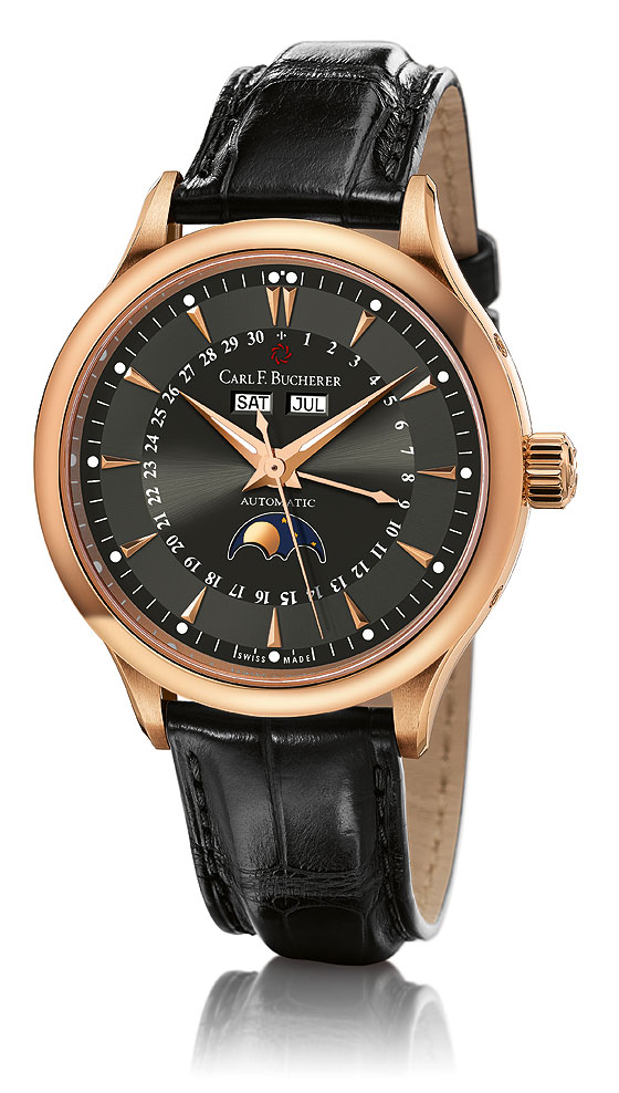 Carl F Bucherer Manero MoonPhase black dial