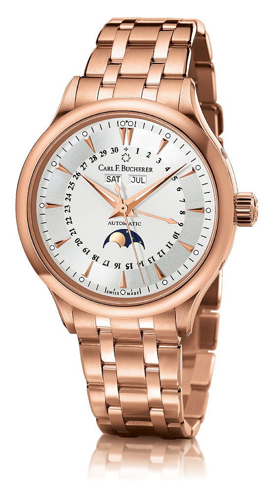 Carl F. Bucherer Manero Moonphase white dial bracelet