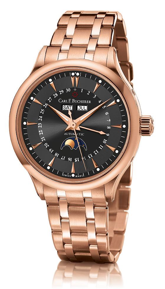 Carl F. Bucherer Manero Moonphase black dial bracelet