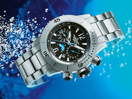 www.watchtime.com | watch wallpaper wristwatch industry news  | Watch Wallpaper: Limited Edition Sports Chronographs | JLC MCDiving 560