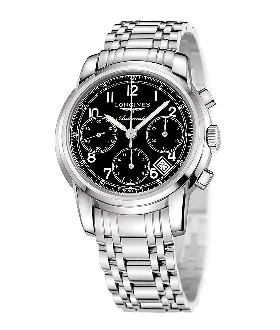 Longines Saint-Imier Chronograph black dial