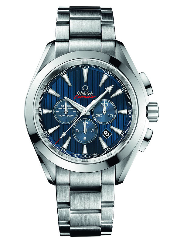 www.watchtime.com | watches wristwatch industry news  | Omega Releases New Seamaster Watches for London 2012 Olympic Games | Omega Seamaster AT LondonChrono bracelet 560