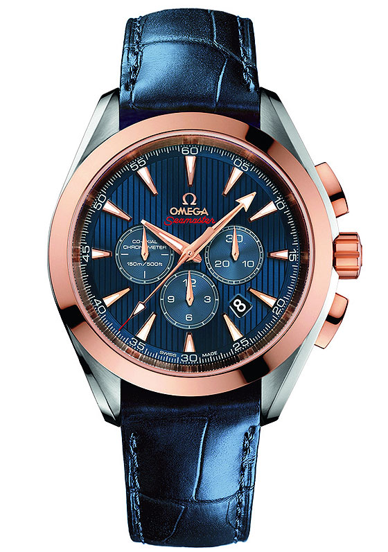 www.watchtime.com | watches wristwatch industry news  | Omega Releases New Seamaster Watches for London 2012 Olympic Games | Omega Seamaster AT LondonChrono strap 560