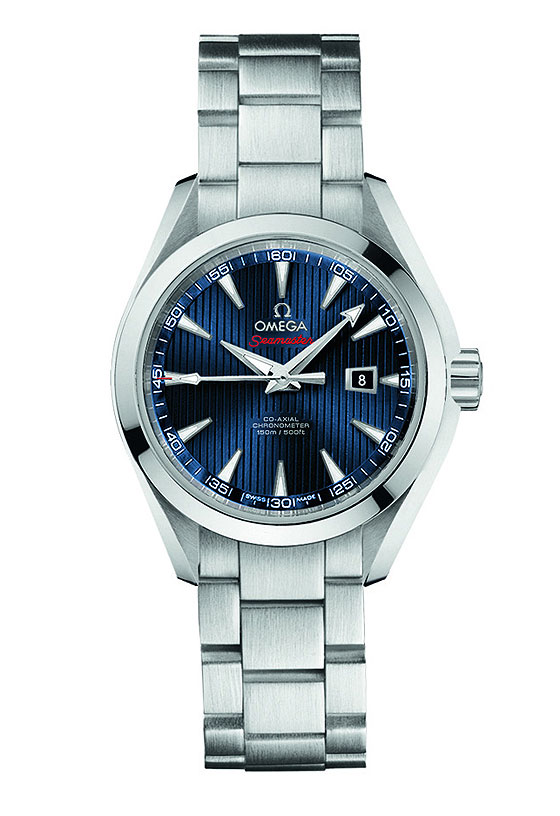 www.watchtime.com | watches wristwatch industry news  | Omega Releases New Seamaster Watches for London 2012 Olympic Games | Omega Seamaster AT London bracelet 560
