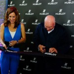 Hublot chairman Jean-Claude Biver cutting the ribbon for the Budapest boutique