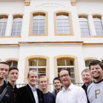 The 8 participants for the F.A. Lange Excellence award: (form l to r) Daniel Neugebauer, Germany; David Grimm, Germany; Robert Nilsson, Sweden; Robbert Suurland, Netherlands; Alexander Santore, Germany; Dennis L. Pedersen, Denmark; Philip Rimo Herndl, Austria; Bennie Hernandez, USA