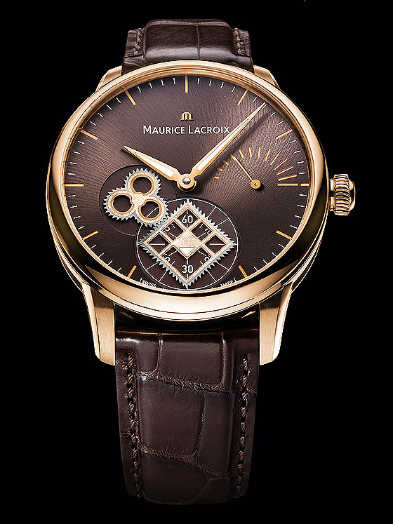 Maurice Lacroix Roue Carree Seconde rose gold front