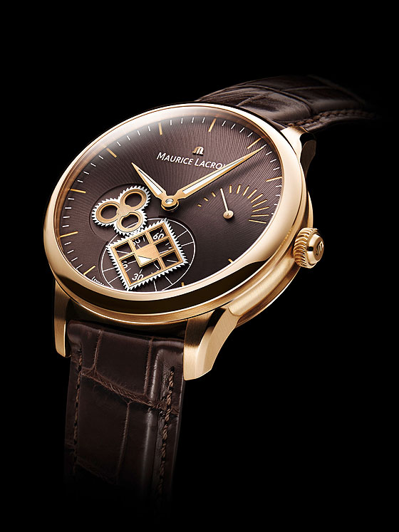 Maurice Lacroix Roue Carree Seconde rose gold profile