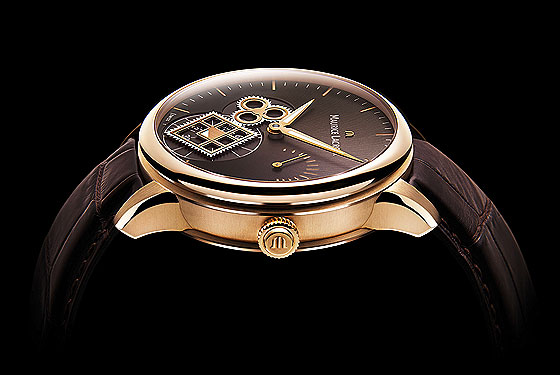 Maurice Lacroix Roue Carree Seconde rose gold sideview