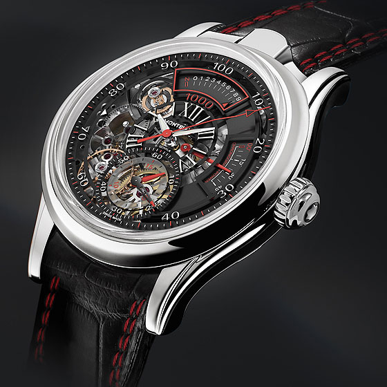 www.watchtime.com | technology wristwatch industry news  | Tech Talk: Montblancs TimeWriter II Chronographe Bi Fréquence 1000 | Montblanc TW BiFrequence side 560