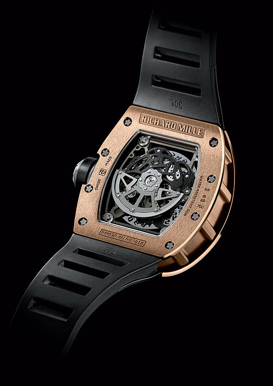 Richard Mille RM 030 rose gold back