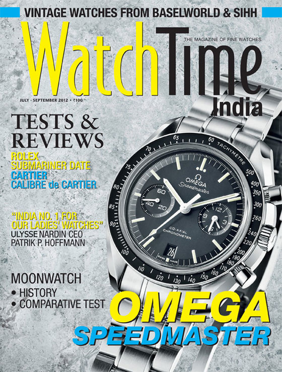 WatchTime India premiere issue cover