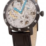 Unisex Stainless 44.5mm Skeleton Dial Mechanical Leather Strap Watch. $269