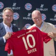 Hublot's Jean-Claude Biver with FC Bayern Munich jersey