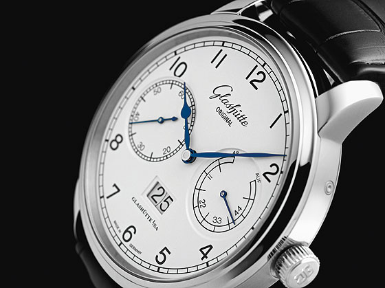 Glashutte Original Senator Observer white dial angle