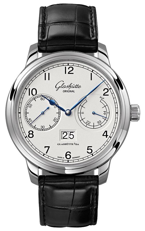 Glashutte Original Senator Observer white dial front