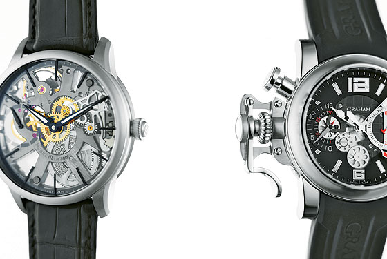 Maurice Lacroix Masterpiece Squelette & Graham Chronofighter R.A.C.
