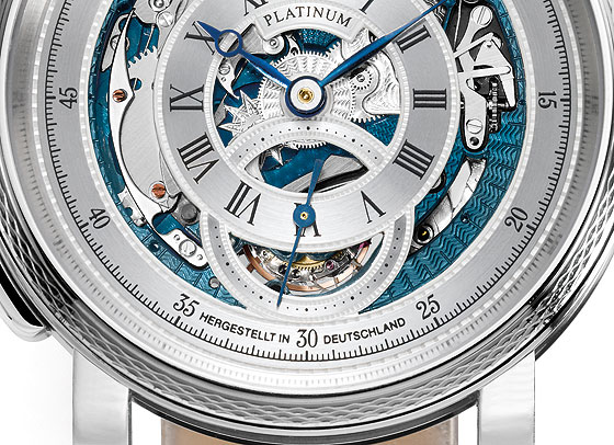 Grieb & Benzinger Blue Whirlwind Dial Detail