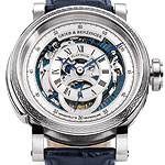 "Grieb & Benzinger Presents Unique ""Blue Whirlwind"" Tourbillon Minute Repeater"