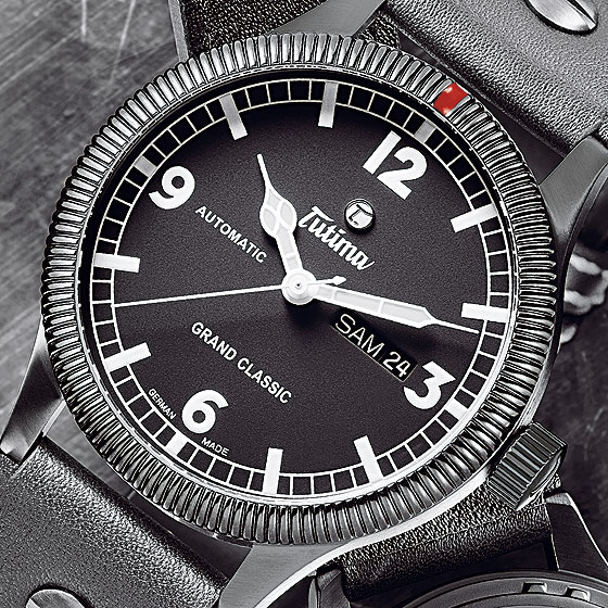 Tutima Grand Classic Black watch dial