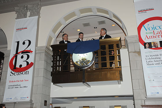 Breguet Clock Unveiling at Carnegie Hall