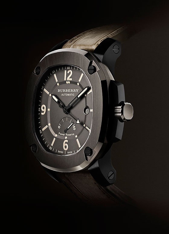 Burberry Britain Automatic Power Reserve side