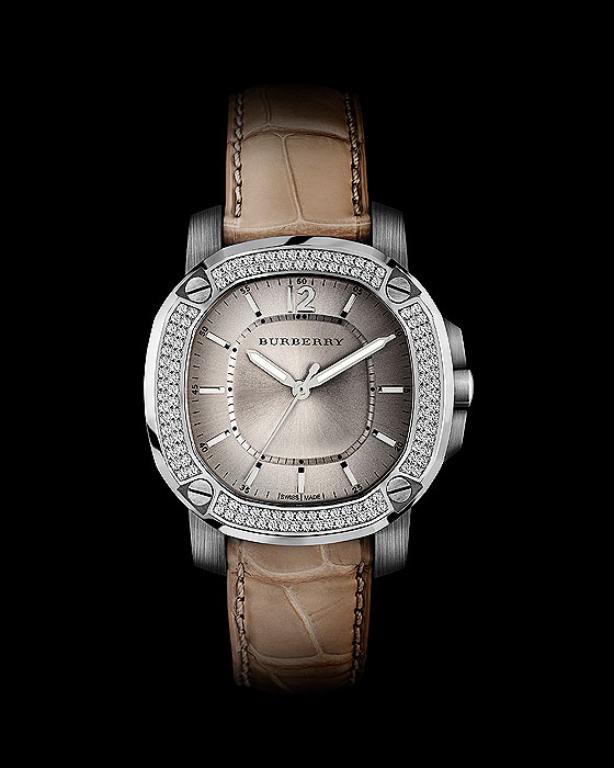 Burberry Britain Quartz with diamonds