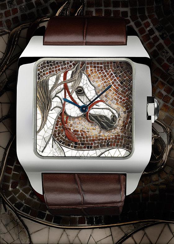 Cartier Santos-Dumont XL horse motif
