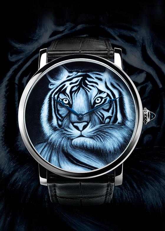 Cartier Rotonde de Cartier tiger motif