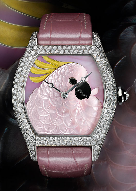 Cartier Large Model Tortue cockatoo motif
