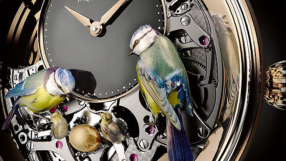 Jaquet Droz Bird Repeater Mechanism
