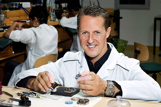 Michael Schumacher at AP Manufacture