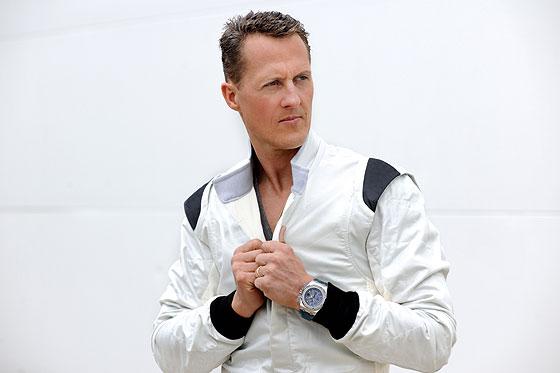 Michael Schumacher wearing Audemars Piguet Royal Oak Offshore